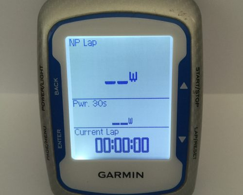 Garmin screen display for mtb training