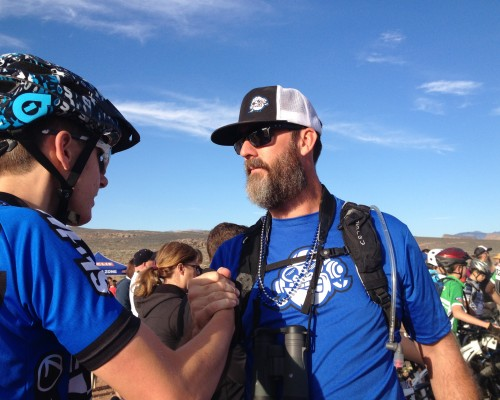coaching high school mountain bike racers