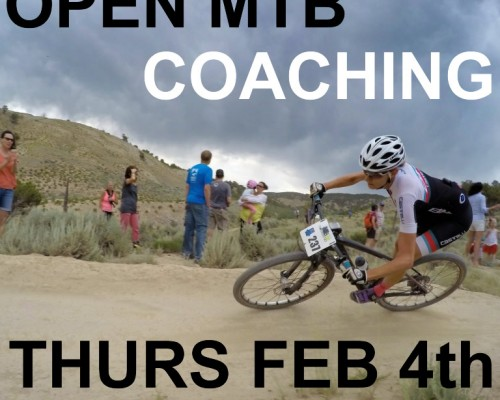 open MTB coaching day Thurs Feb 4th, 2016