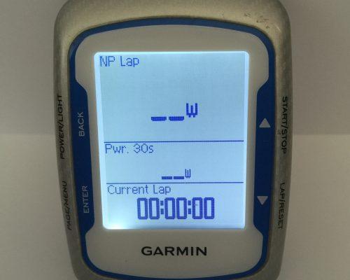 Garmin screen display for mtb training